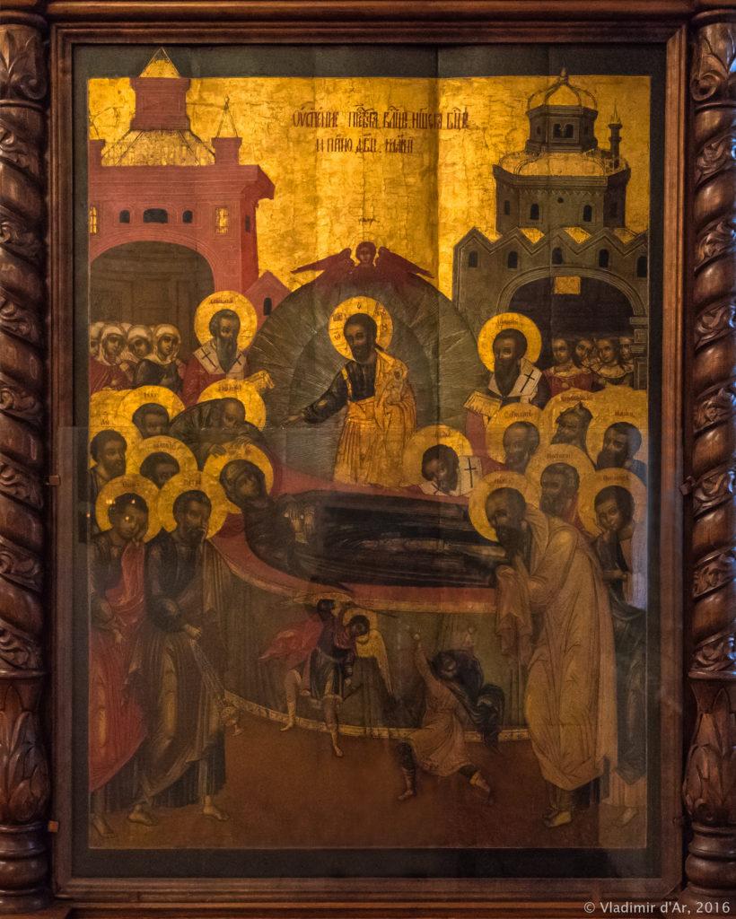 Икона Успения Пресвятой Богородицы XVII века